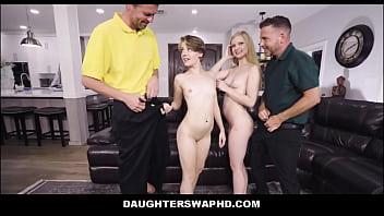 Petite Teen Step Daughters Harlow West & Dakota Burns Swap Fuck Their Dad's During Game Night 8分钟