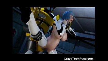 Image: 3D Giant Robot Destroys Space Girl!
