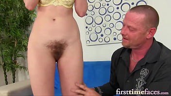 First time porn newbie loves sucking cock and being fucked