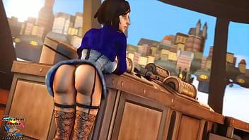 Elizabeth Bouncing Her Booty 10 sec