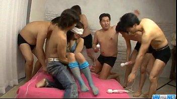 Vibrating mens sex toys Mahiru tsubaki enjoys men to devour her wet vag