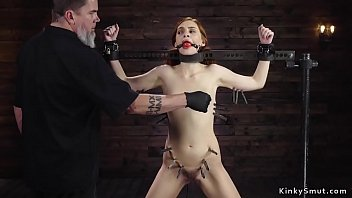 Slave in doggy device bondage anal toyed 5 min