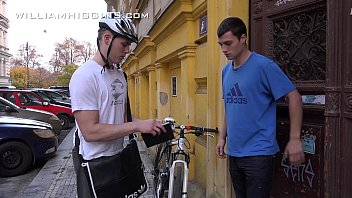 Jirka barebacks the postman Tibor