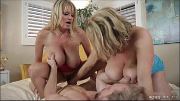 Two Big Tit Goddesses Fucking A Lucky Stud