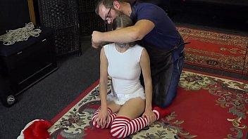 Teen Christmas Elf punished in Bondage EP 3