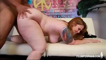 Vixens mature - Redhead tattooed milf vanya vixen swallows huge latin dick