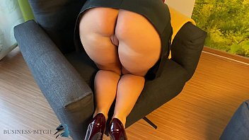 secretary in leather skirt used doggy, business-bitch porno izle