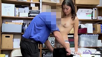 Tiny Teen Brunette Forced To Pay The Price For Stealing- Emily Willis