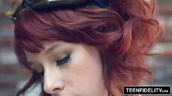 TEENFIDELITY Dirty Redhead Steampunk Slut Zoey Nixon