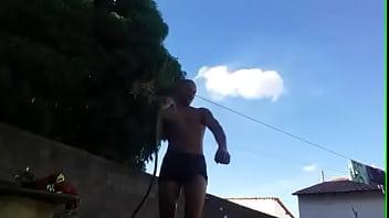 Flaco hace show al aire libre