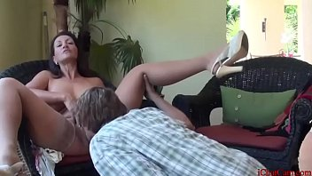 Hot horny Stepmom teaching son sex