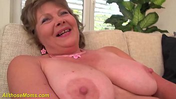 crazy 76 years old big boob mom alone at home 12 min