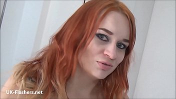 Filthy Finnish Mum Masturbating At Home Before Venturing Outside For Public Striptease