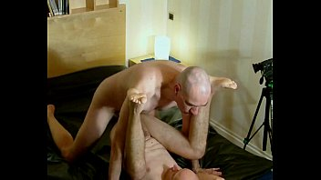 Gay bald Pounding the fag: anal greed