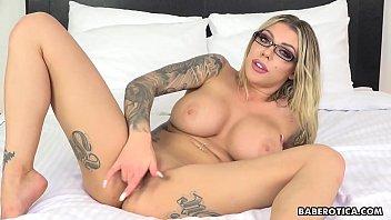 Horny Karma RX toys her ass with a dildo solo