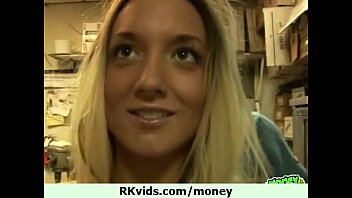 Girl fucks talked into money 1st What can do a girl for some cash 21
