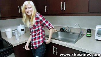 ShesNew Skinny blonde teen Chloe Foster POV homemade sex 5 min