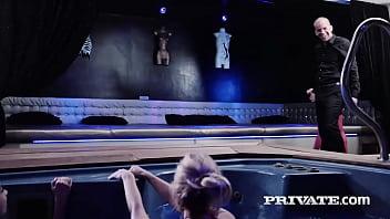 Private.com - Busty Platinum Blonde Barbie Sins Swallows A Cumshot!