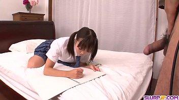 Naked Momoka Rin amazing bedroom sex with a teacher - More at Slurpjp.com