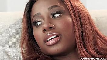 Big Tits Ebony Babe Kinsley Karter Finally Gets To Taste A Hard White Cock 8 min