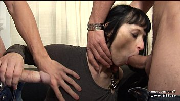 Big boobed french milf hard analyzed and facialized in threesome for her casting 15 min