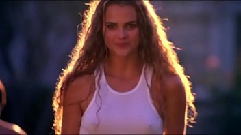 Breast through t-shirt - Keri russell - gets her top wet running through sprinklers - uploaded by celebeclipse.com
