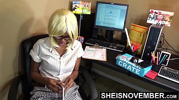Pressured My Shy Black Secretary To Suck My Dick & With Those Huge Knockers POV Out Then Spread Her Juicy Ass Cheeks Open, Hot Assistant Msnovember on Sheisnovember