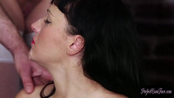 Bigtitted amateur gets cum blasted in orgy