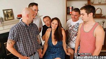 Raquel Raxxx Giant Titty Blowbang Bukkake thumbnail
