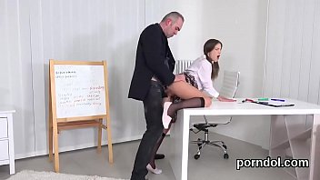 Sweet schoolgirl was seduced and poked by her senior instructor