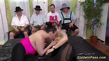 slippery nuru lederhosen orgy preview image