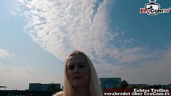 EroCom Date - Dicke Blonde Frau mit natur titten wird bei Straßenflirt Casting abgeschleppt und gefickt