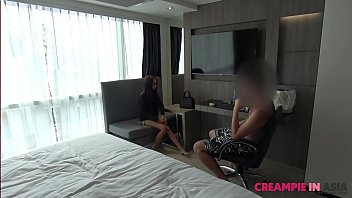 Tiny Thai slut was unaware that I came in her pussy 7 min