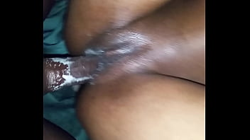 Creamy pussy and anal makes black dick cum 3 times