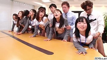 JAV huge group sex office party in HD with Subtitles