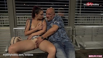 Streaming Video MyDirtyHobby - Step dad fucks daughter at a public train station while people watch - XLXX.video