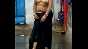 Curvy Indian Woman showing her beautiful body with some dance moves