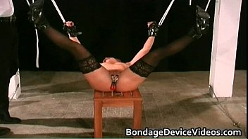 Clamps On Her twat hard-core fetish