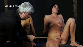 Caning and clamps right on the clit of slaves thumbnail
