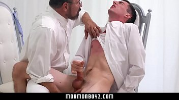 Older priest blows straight boy tricked into getting hard