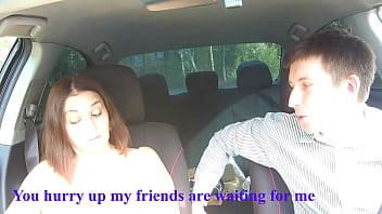 Deepthroat in taxi Russian milf woman's reaction to harassment (Alina Tumanova) 15 min