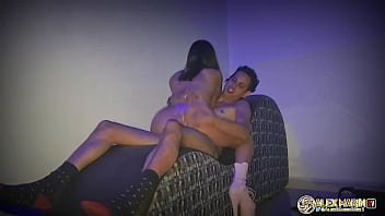 I go to a men's club and I go to a room with her and I fuck her without a condom and I cum on her little ass