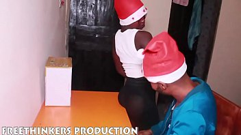 Naked nigerians girls - Round ass naija girl fucking neighbour big cock for christmas gift