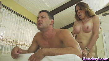 TS Sofia Sanders monster cock anal fucking sex! Sofia Sanders and her partner Gabriel DAlessandro fuck each other assholes!