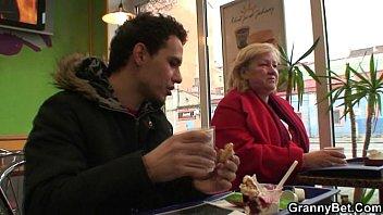 Granny Pickup In Fast Food
