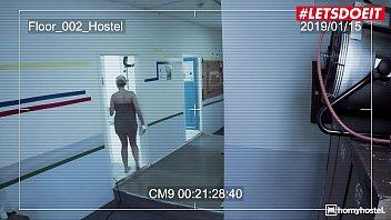 LETSDOEIT - #Angel Wicky - Busty Czech MILF Threeway Sex On The Hostel Bathroom