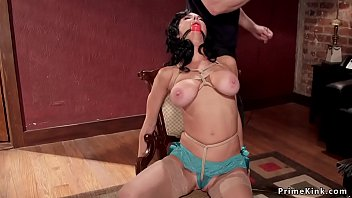 Huge tits hogtied Milf made squirting