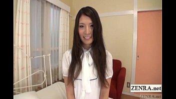 Embarrassed naked Japanese amateur shy striptease Subtitled