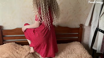 white ass in a red dress loves anal/FeralBerryy
