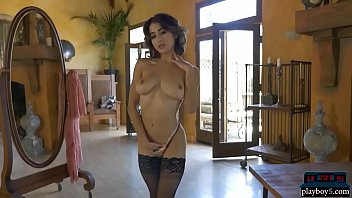 Super sexy chicks strip off hot lingerie and show off